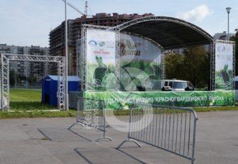 Аренда сцен шатров и ограждений для городских мероприятий и СПб цена