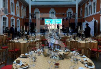 Аренда посуды, столов, стульев, сцены и оборудования для корпоратива в МСК и СПб цена