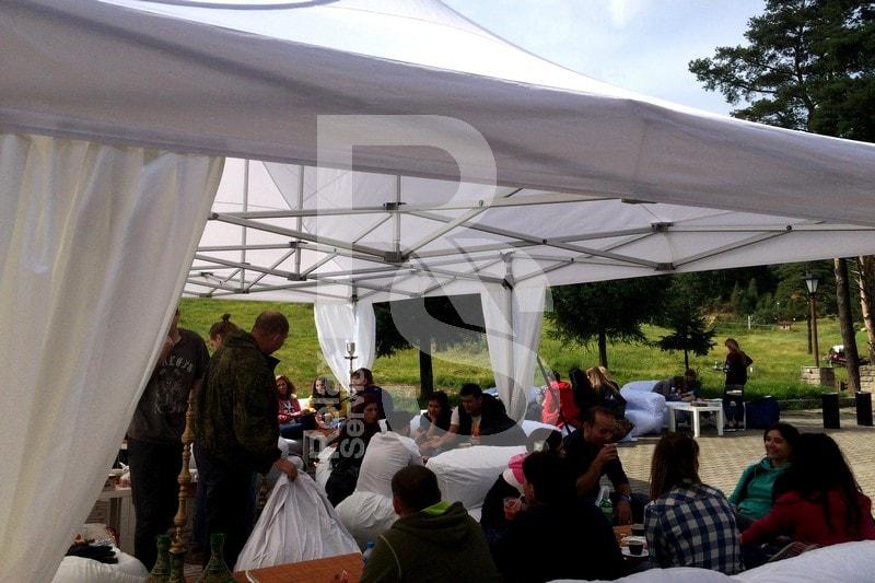 Аренда шатров и мебели для корпоратива цена и СПб