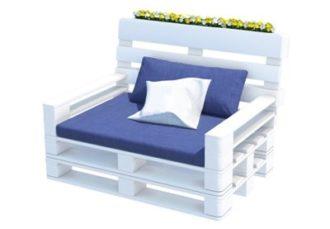 Кресло из паллет с подушками аренда на мероприятие в СПб и МСК цена, прокат паллетного крелса стоимость