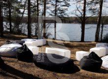 Кресло мешок черный Bean Bag Opti аренда на мероприятие в СПб и МСК цена, кресло груша Бин Бег большой в черном чехле прокат