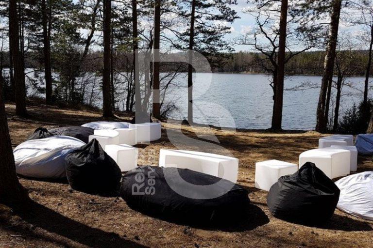 Кресло мешок черный Bean Bag Opti аренда на мероприятие в СПб цена, кресло груша Бин Бег большой в черном чехле прокат