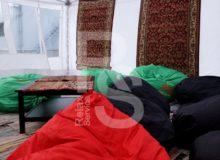 Кресло мешок зеленый Bean Bag Opti аренда на мероприятие в СПб и МСК цена, кресло груша Бин Бег в зеленом чехле прокат