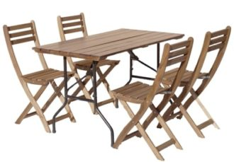 Аренда набора для пикника из реечного стола и 4 деревянных складных стульев на мероприятие в СПб и МСК цена