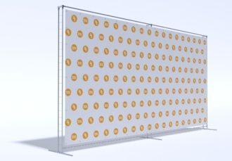 Аренда пресс волл конструкции системы джокер-тритикс размером 6х3 м в СПб цена, взять в прокат Press Wall Joker в МСК стоимость 6 на 3 метра
