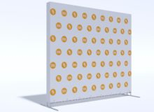 Press Wall Tritix с закрытыми боками 3х2,5 м.