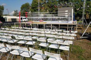 Сцена, трибуна и мебель для MMA в Колпино