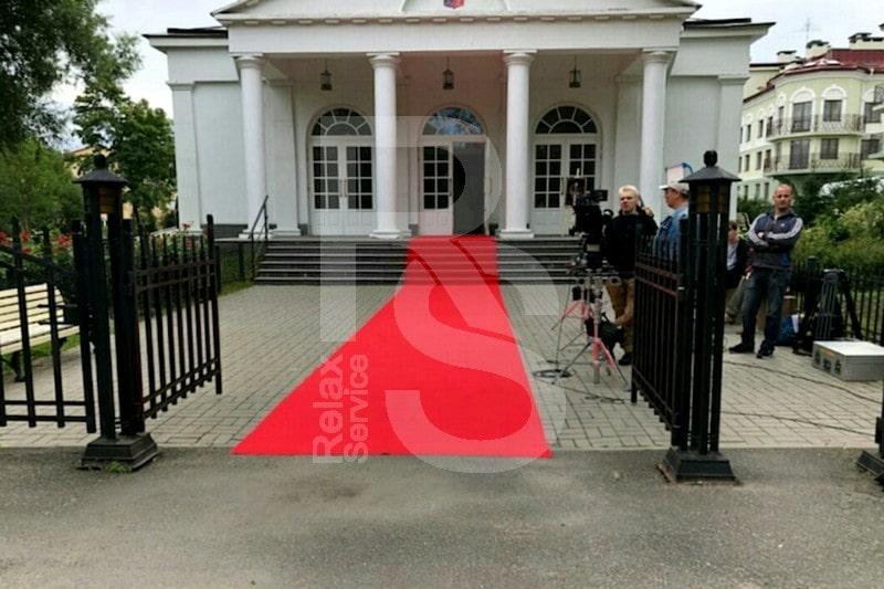 Красная ковровая дорожка на мероприятие в Пушкине