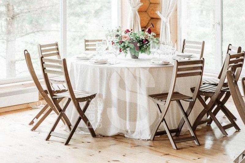 Аренда стульев, текстиля и посуды для свадьбы