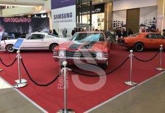 Ковролин для выставки автомобилей в Галерее