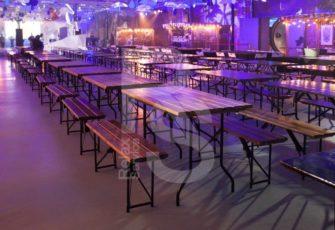 Аренда реечных столов и стульев для мероприятия ВК 2018