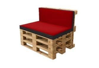 Паллетный красный диван в аренду на мероприятие в  Санкт-Петербурге цена