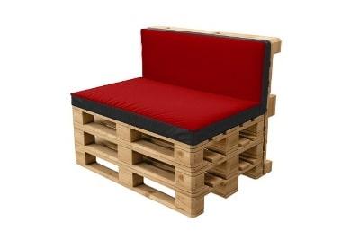Паллетный красный диван в аренду на мероприятие в Москве и Санкт-Петербурге цена