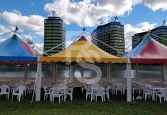 Шатры и мебель в Упсала-цирке
