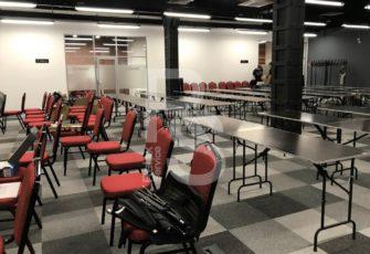 Мебель в аренду для мероприятия Selectel