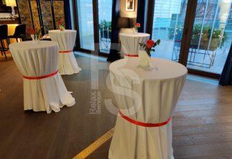 Аренда фуршетных столов в ЖК Привелегия в Петербурге