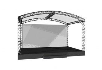 Сцена 6х4 м с арочной крышей