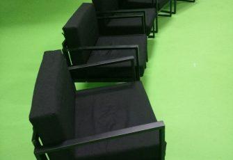 Кресла Лофт в аренде на проекте с хромоккем в Санкт-Петербурге